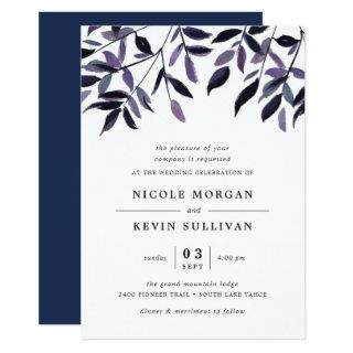Harvest Plum | Watercolor Wedding Invitation