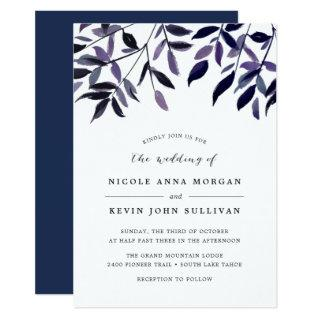 Harvest Plum Wedding Invitations