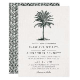 Havana Palm Wedding Invitations