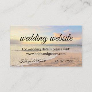 Hawaii Sunset on the Beach Enclosure Card