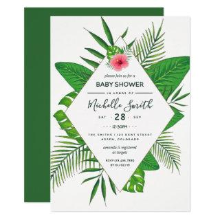 Hawaiian Aloha Luau Baby Shower Invitation