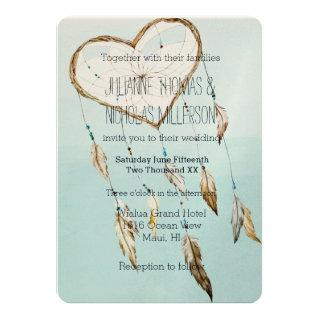 Heart Dream Catcher Wedding Invitations