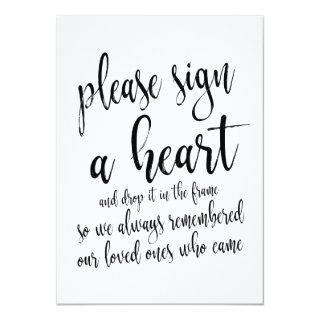 Heart Drop Guest Book Affordable Wedding Sign Invitations