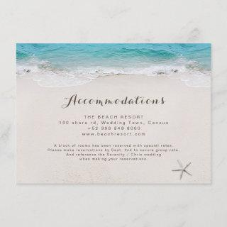 Hearts in the sand beach accommodations enclosure card