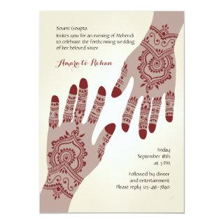 Henna Hands Invitations