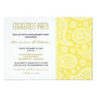 Henna Paisley Engagement Party Invitations (lemon)