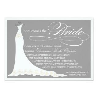 HERE COMES THE BRIDE | BRIDAL SHOWER Invitations