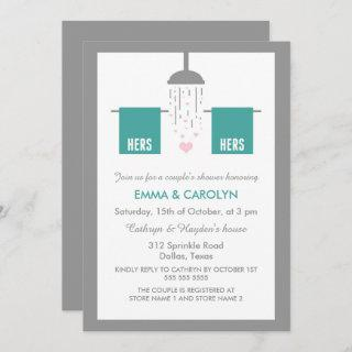 Hers and Hers | Lesbian Couple's Shower Invitations
