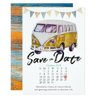Hippie Wedding Save the Date Invitation