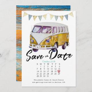 Hippie Wedding Save the Date Invitations