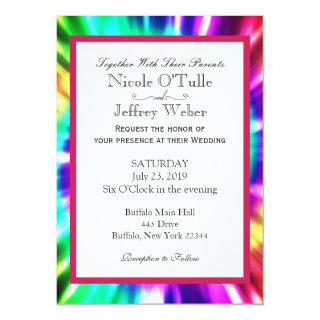 Hippy Chic Tie Dye Tye Die Wedding Invitations