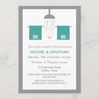 His and His | Gay Couple's Shower Invitation