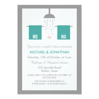 His and His | Gay Couple's Shower Invitations
