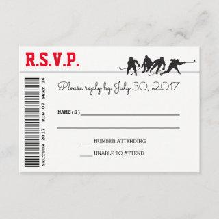 Hockey Love RSVP cards