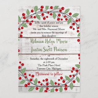 Holiday Charm II Winter/Christmas Wedding Invitations