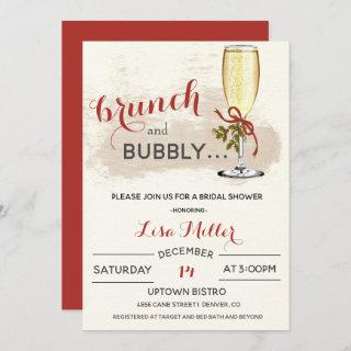 Holiday Christmas Brunch and Bubbly Bridal Shower