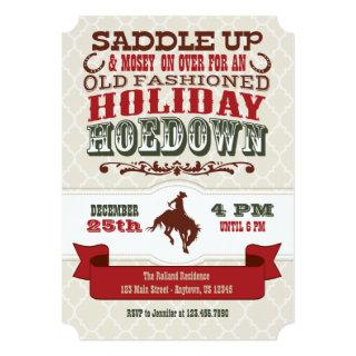 Holiday Hoedown Christmas Party Invitations