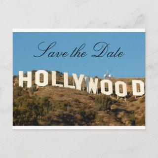 HOLLYWOOD Save The Date Announcement Postcard