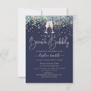 Holographic Confetti Brunch+Bubbly Pink Champagne