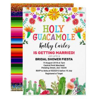 Holy Guacamole Cactus Fiesta Bridal Shower Invitations