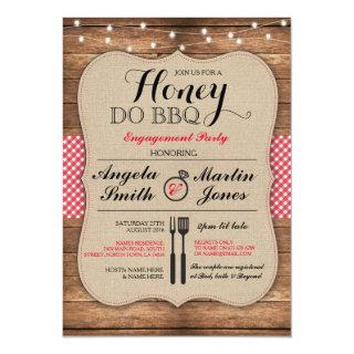 Honey Do BBQ Engagement Party I DO shower Invite