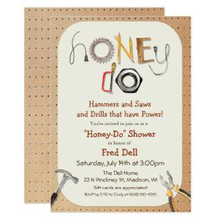 Honey Do Couples Shower Invitation