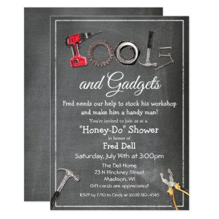 Honey Do Tools & Gadgets Shower Male Invitations