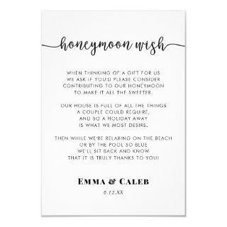 Honeymoon Wish Enclosure Card