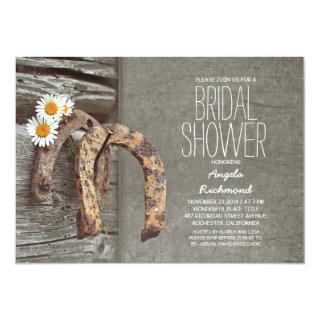 Horseshoe rustic country bridal shower Invitations