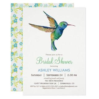 Hummingbird Bridal Shower Invitation