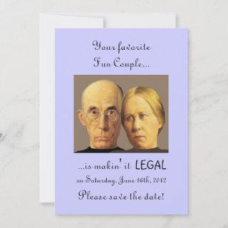 Humorous Fun Couple Unique Nerdy Save The Date