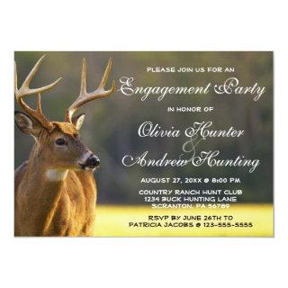 Hunting 8 Point Buck Animal Wedding Engagement Pa Invitations