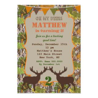 Hunting Camo Birthday Party Invitations