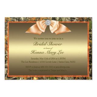 Hunting Camo Bridal Shower Invitations