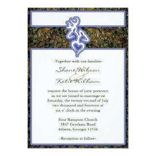 Hunting Camo Custom Outline Color Invitation