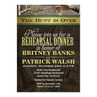 Hunting Camo Wedding Rehearsal Dinner Invitations