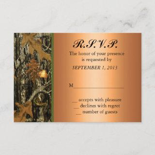 Hunting Camo Wedding RSVP Invite