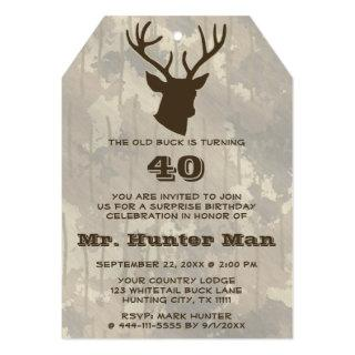 Hunting Mens Buck Birthday Party Funny Invitations