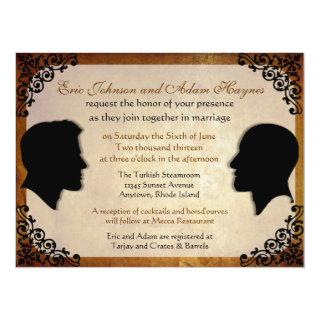 Husbands III Custom Gay Wedding Invitations