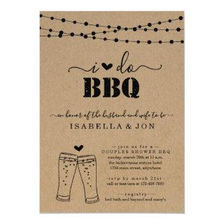 I Do BBQ Beer Couples Wedding Shower Engagement Invitations