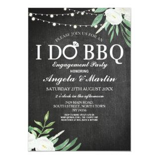 I DO BBQ Engagement Party Couples Shower Flowers Invitations