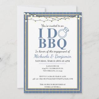 I Do BBQ Engagement Party Couples Shower Invitations