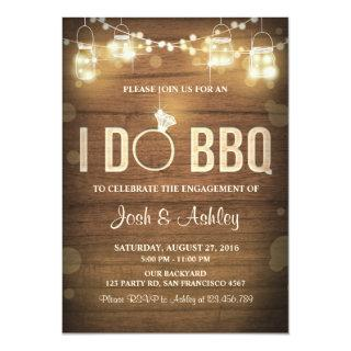 I Do BBQ Engagement Party Couples shower Rustic Invitation