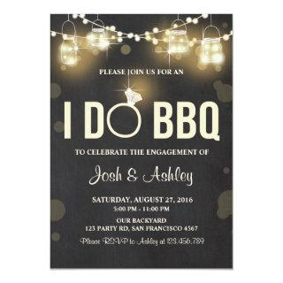I Do BBQ Engagement Party Couples shower Rustic Invitations