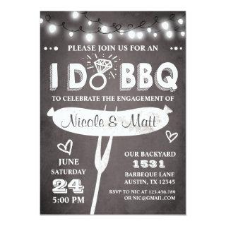 I Do BBQ Engagement Party Invitations Rehearsal