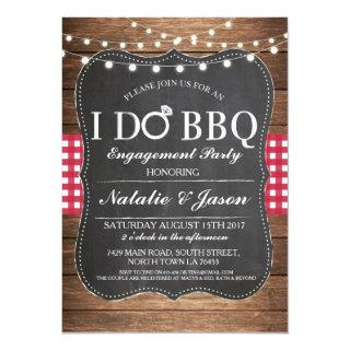 I DO BBQ Engagement Party Maroon Shower Invite