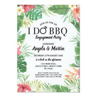 I DO BBQ Engagement Party Tropical Aloha Invite