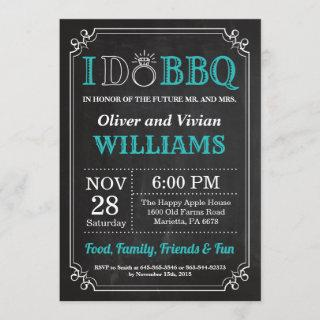 I DO BBQ Invitation Chalkboard Wedding Engagment