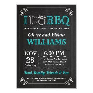 I DO BBQ Invitations Chalkboard Wedding Engagment
