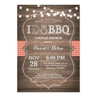 I DO BBQ Invitations Rustic Wedding Engagement